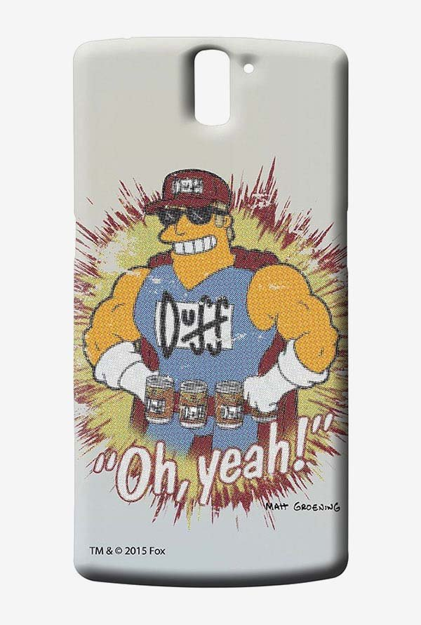 Simpsons Duff Oh Yeah Case for Oneplus One