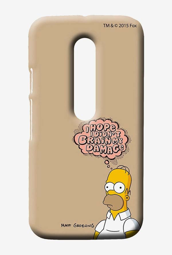 Simpsons Brain Humour Case for Moto G3