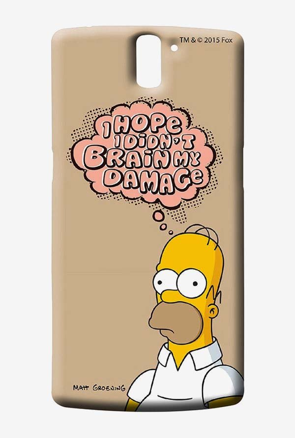 Simpsons Brain Humour Case for Oneplus One