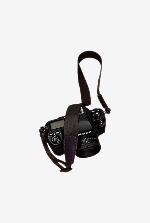 Leather Strap Shoulder Neck Strap (Matte Black/Brown)