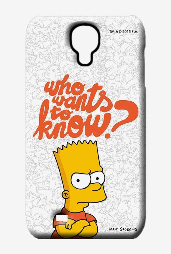 Simpsons Who Wants To Know Case for Samsung S4