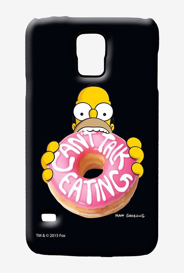 Simpsons Cant Talk Eating Black Case for Samsung S5