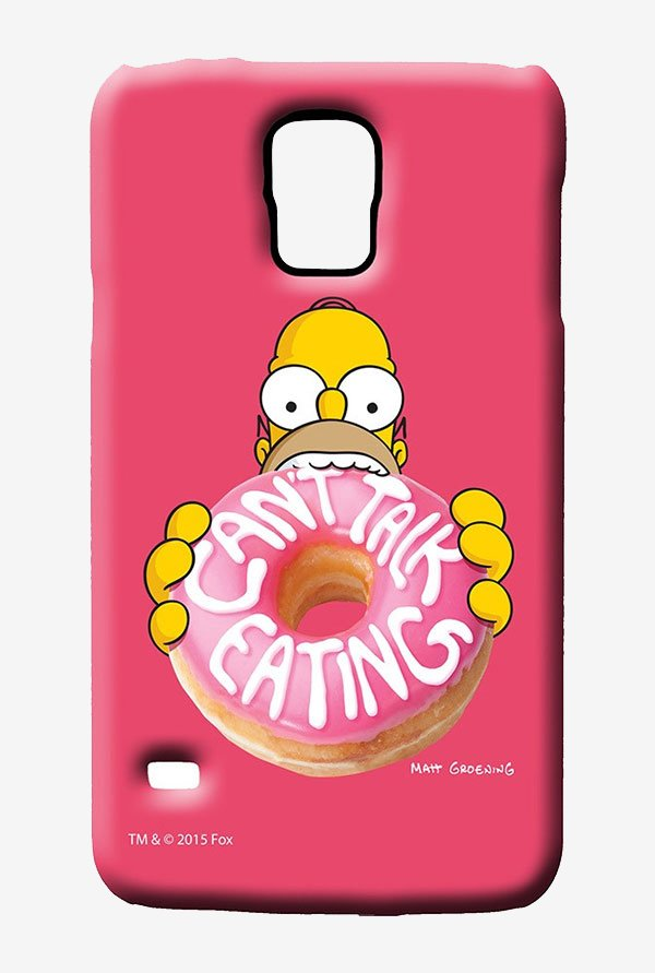 Simpsons Cant Talk Eating Pink Case for Samsung S5