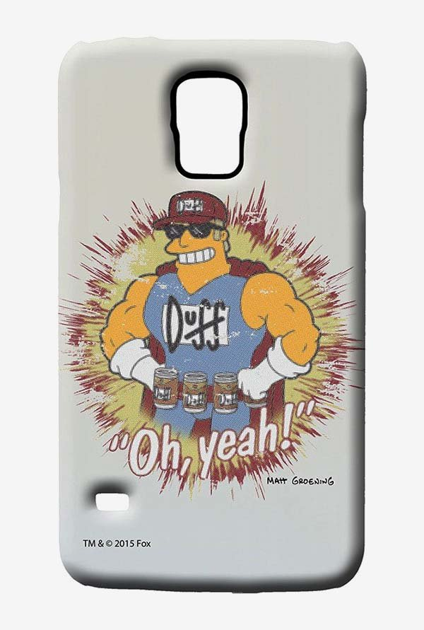 Simpsons Duff Oh Yeah Case for Samsung S5