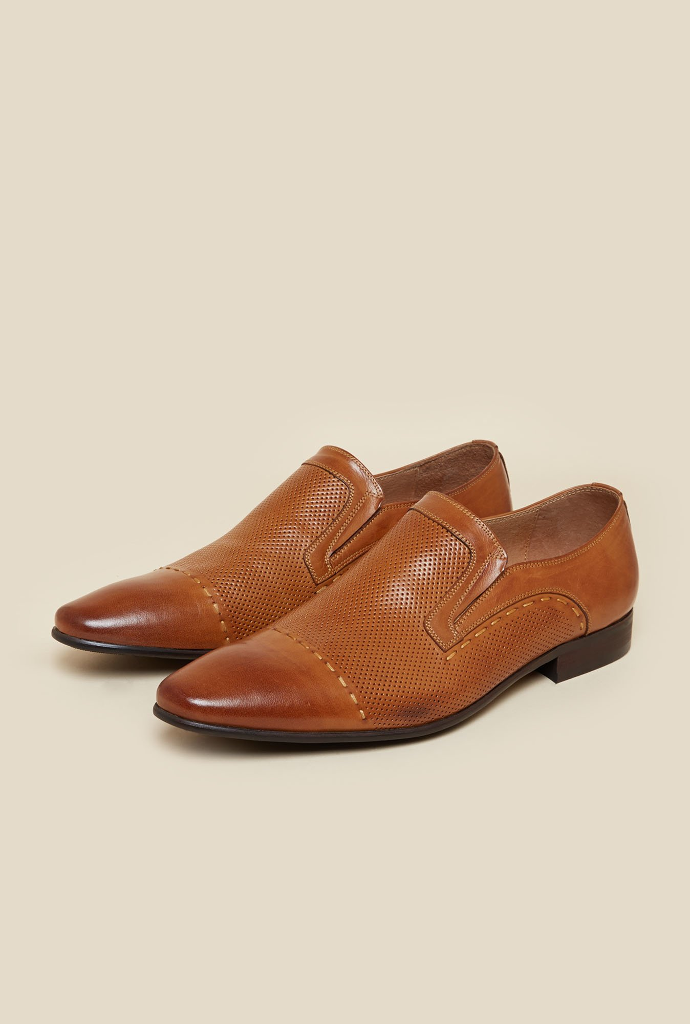 J. Fontini by Mochi Tan Formal Slip-Ons