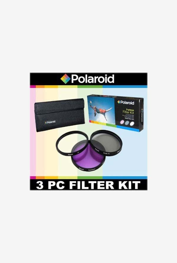 Polaroid PL-3FIL-101 3 Piece Filter Set (UV, CPL, FLD)