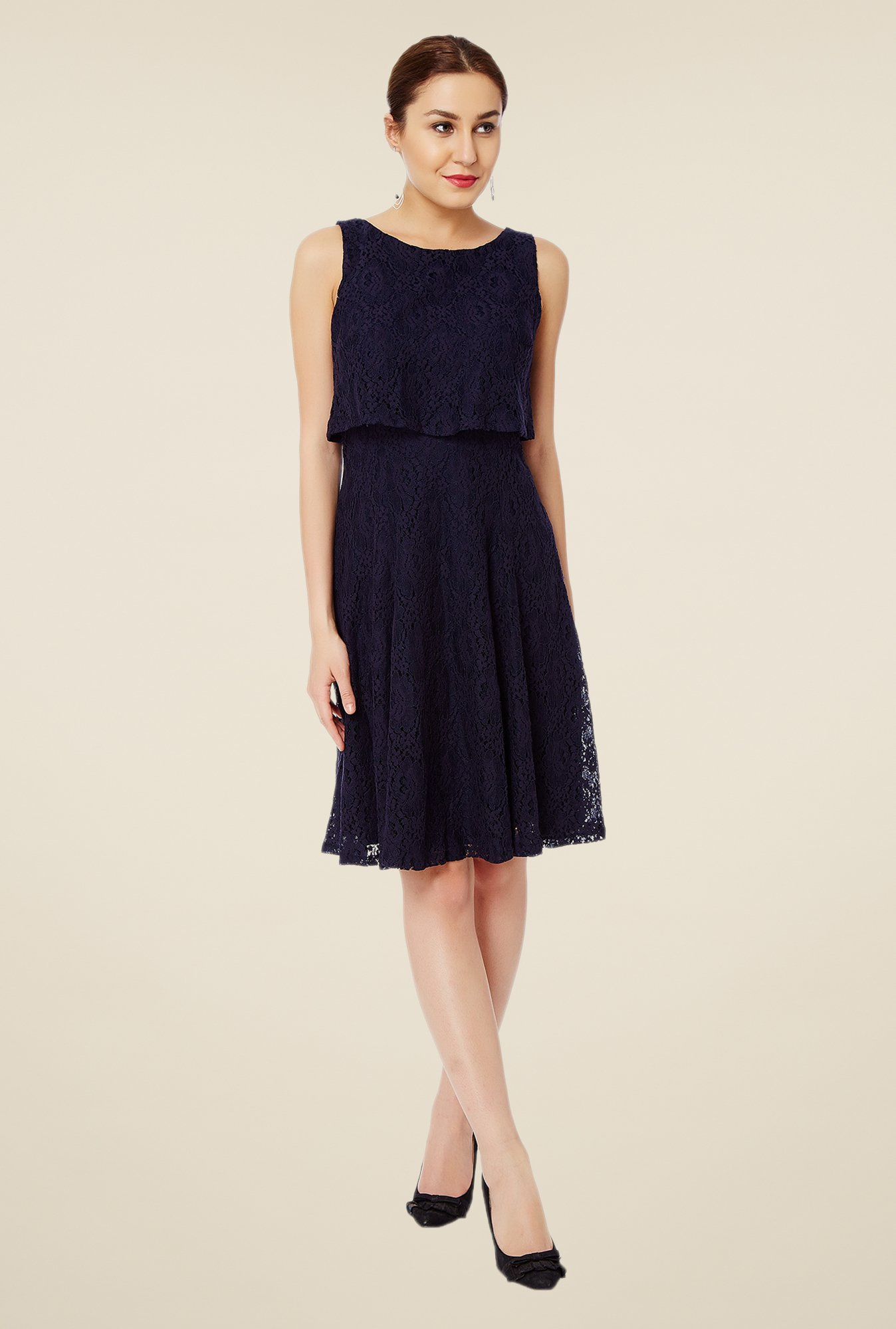 Avirate Navy Lace Dress
