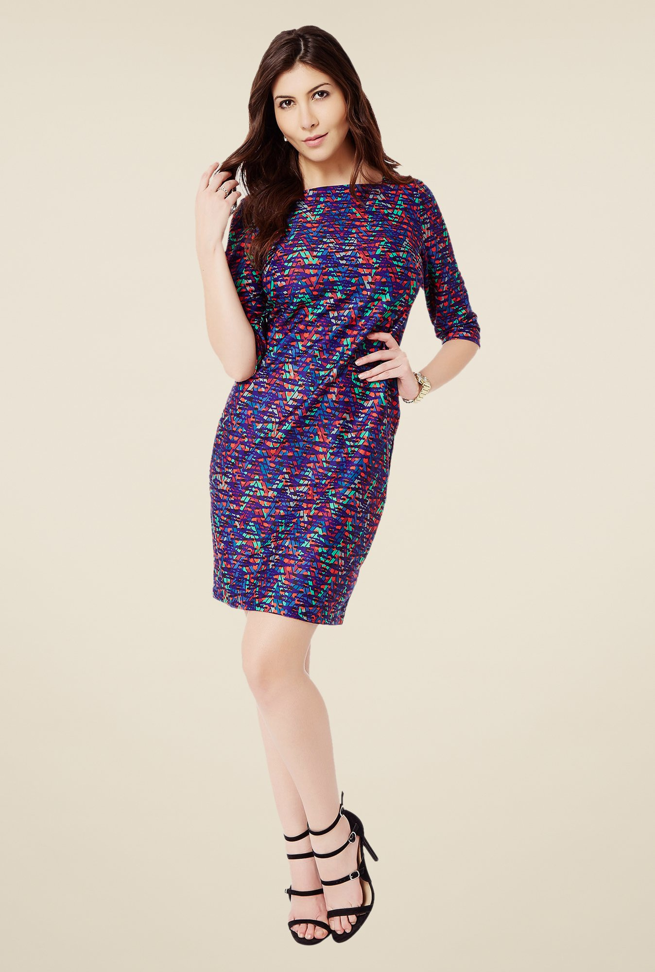 Avirate Multicolor Sheath Dress