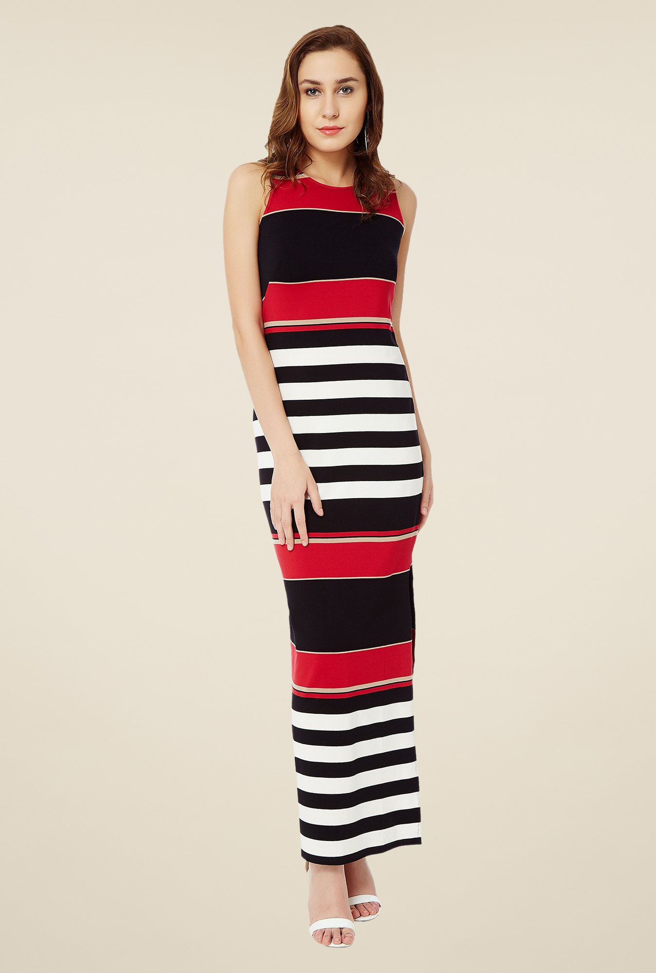 Avirate Black Striped Dress