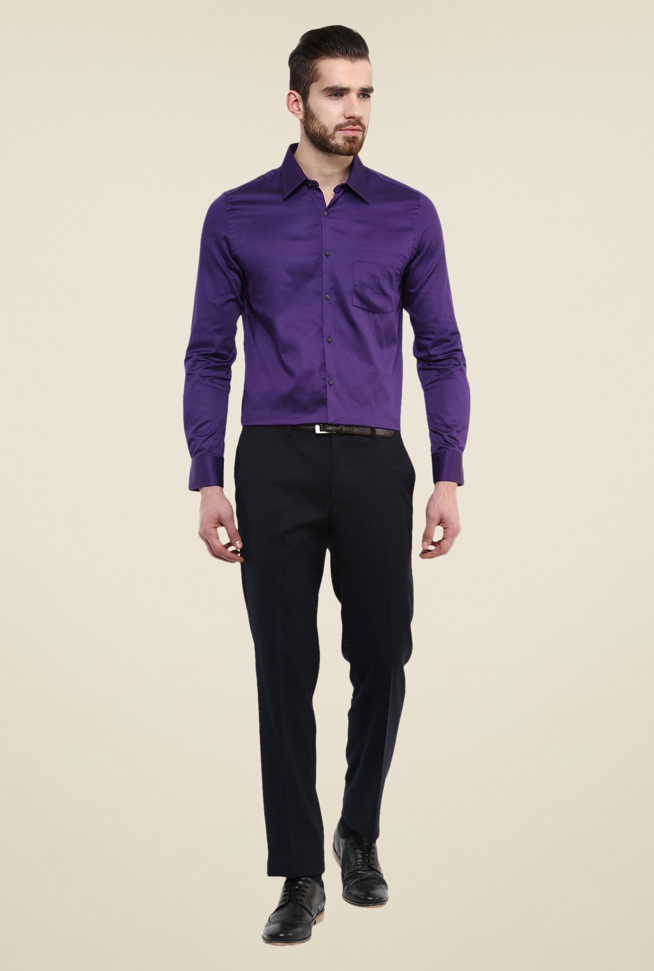 Turtle Purple Solid Shirt