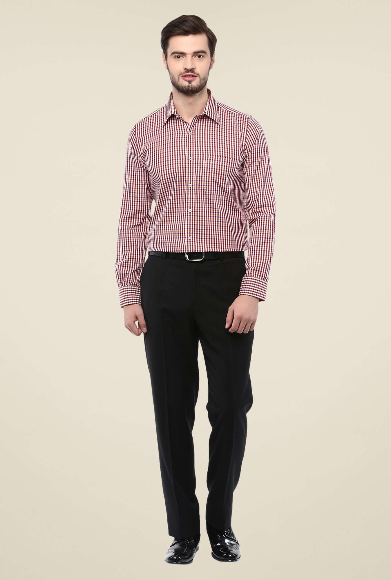 Turtle Red Checks Slim-fit Shirt