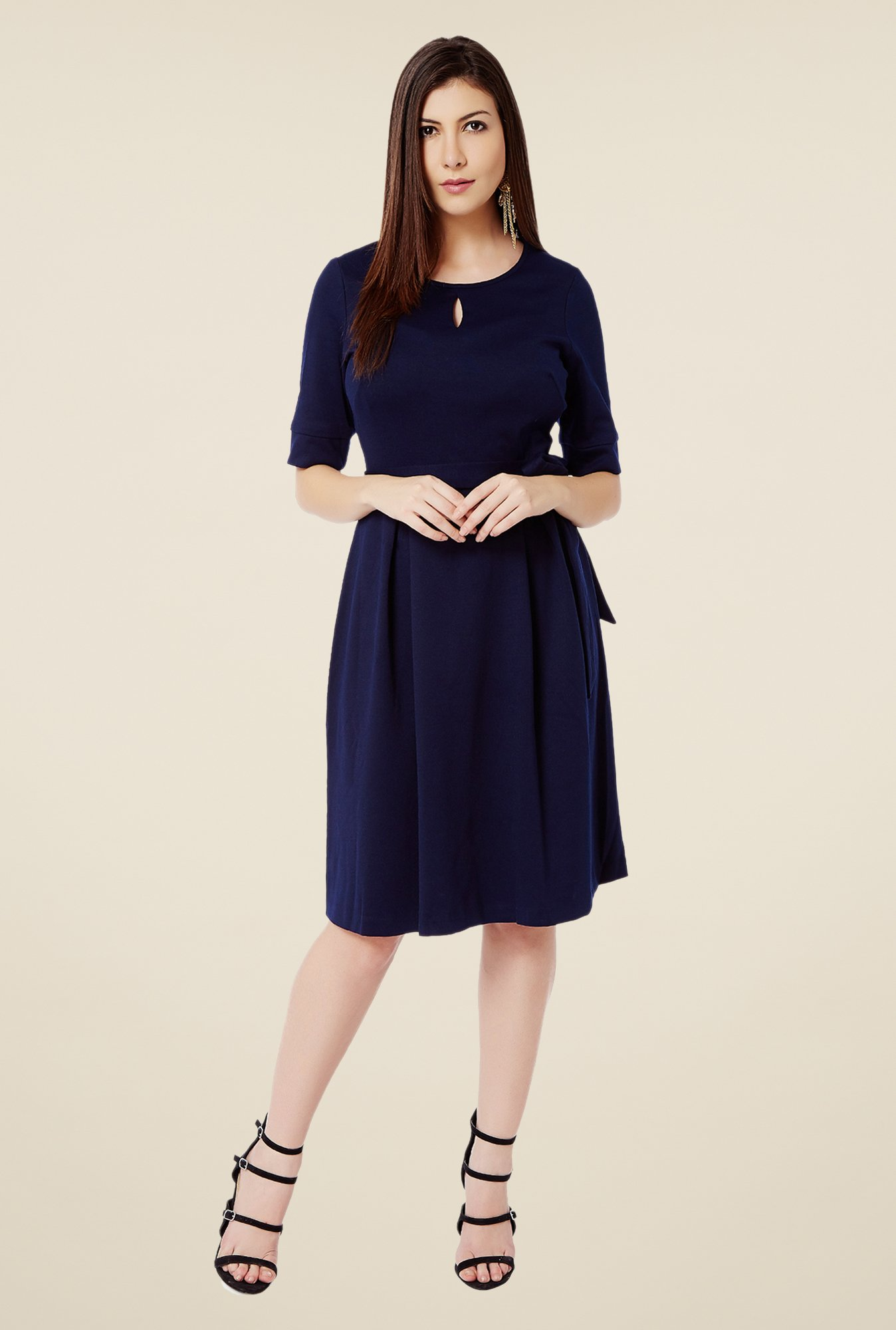 Avirate Navy A-Line Dress