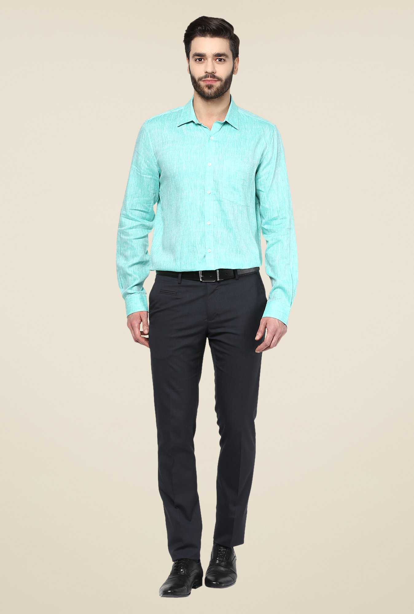 Turtle Turquoise Linen Shirt