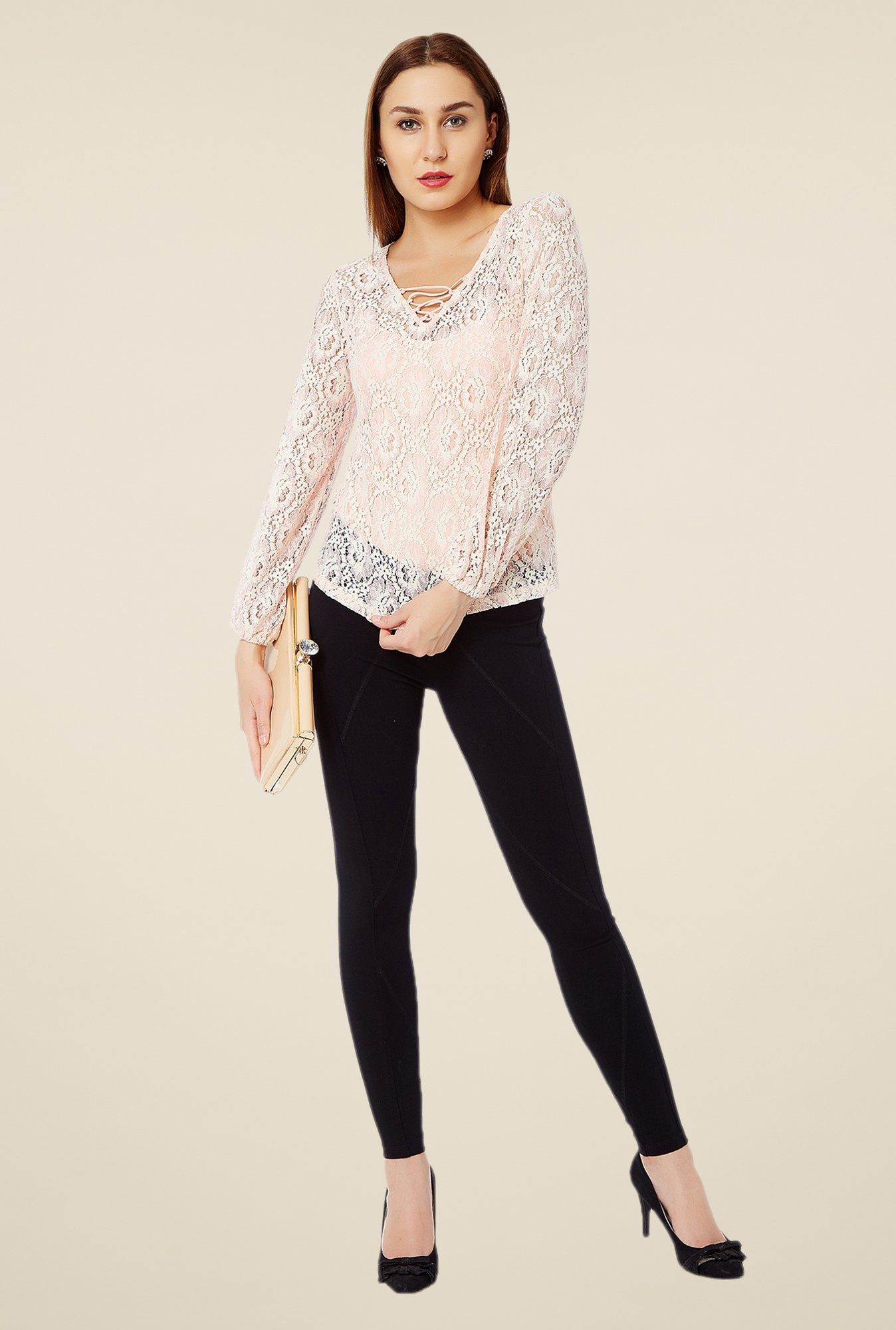 Avirate Pink Lace Top