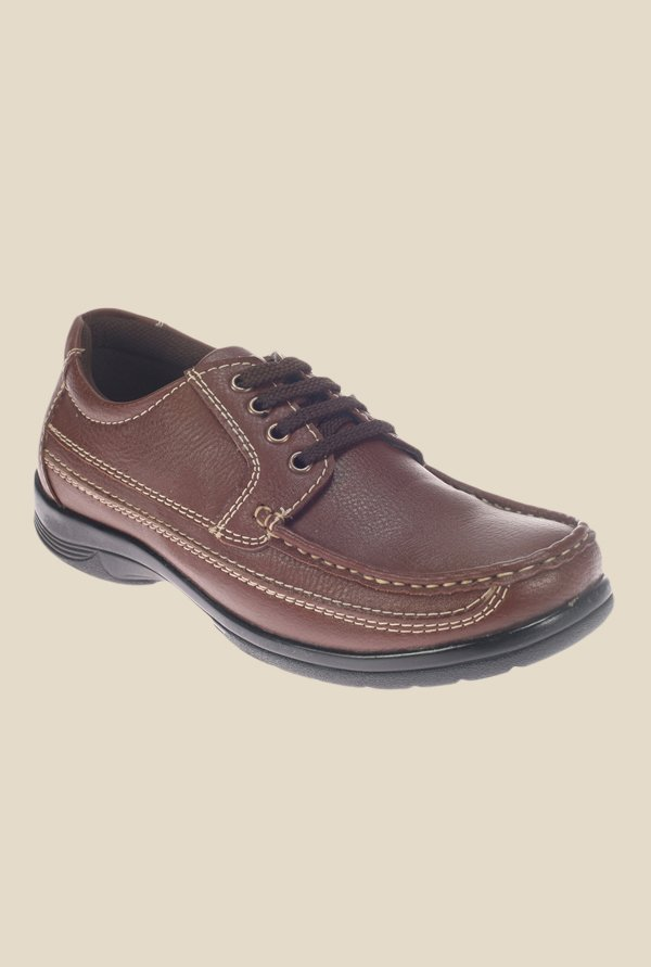 Khadim's Turk Brown Derby Shoes