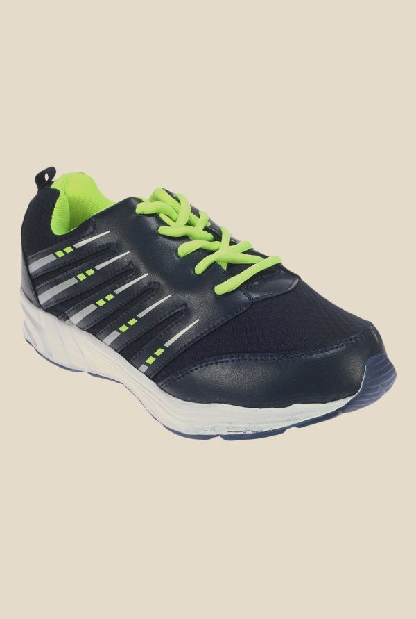 Khadim's Pro Activity Navy & Green Running Shoes