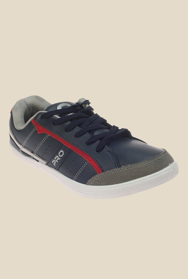 Khadim's Pro Navy & Red Sneakers