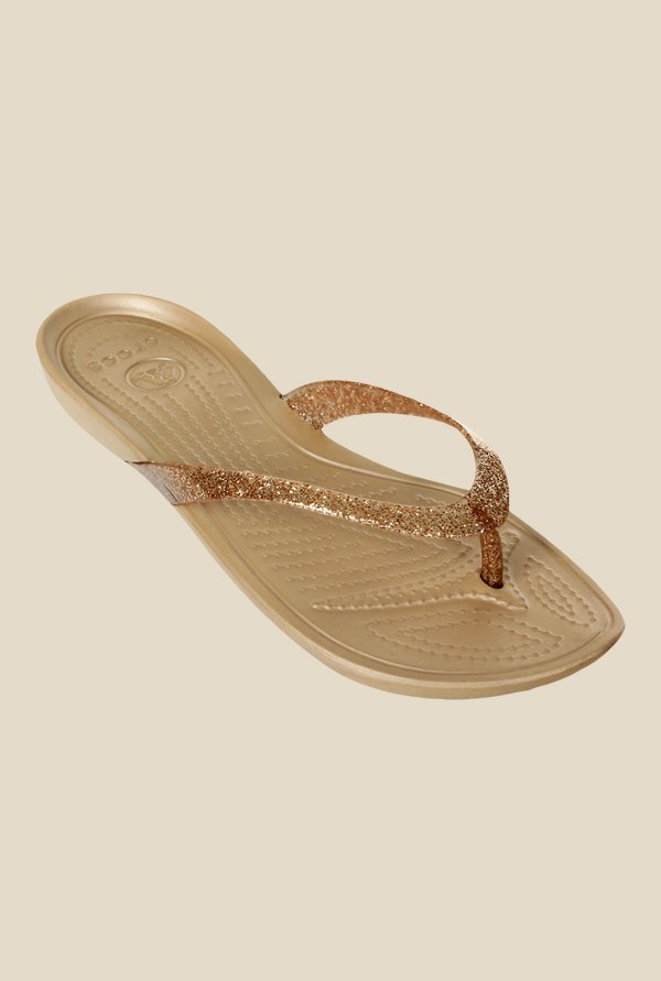 Crocs Really Sexi Golden Flip Flops