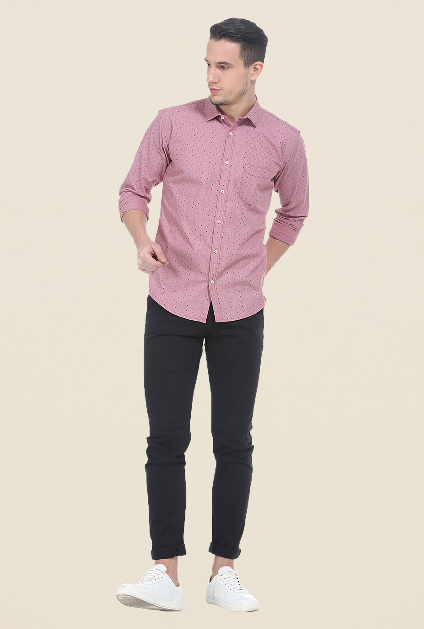 Basics Pink Polka Dot Shirt