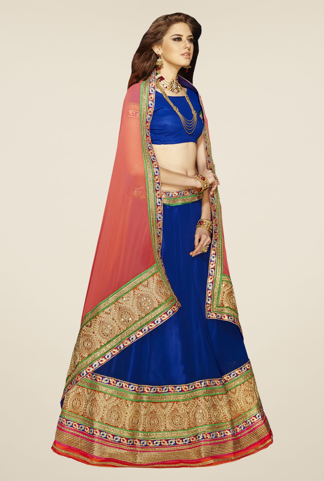 Occeanus Blue Georgette Lehenga Set