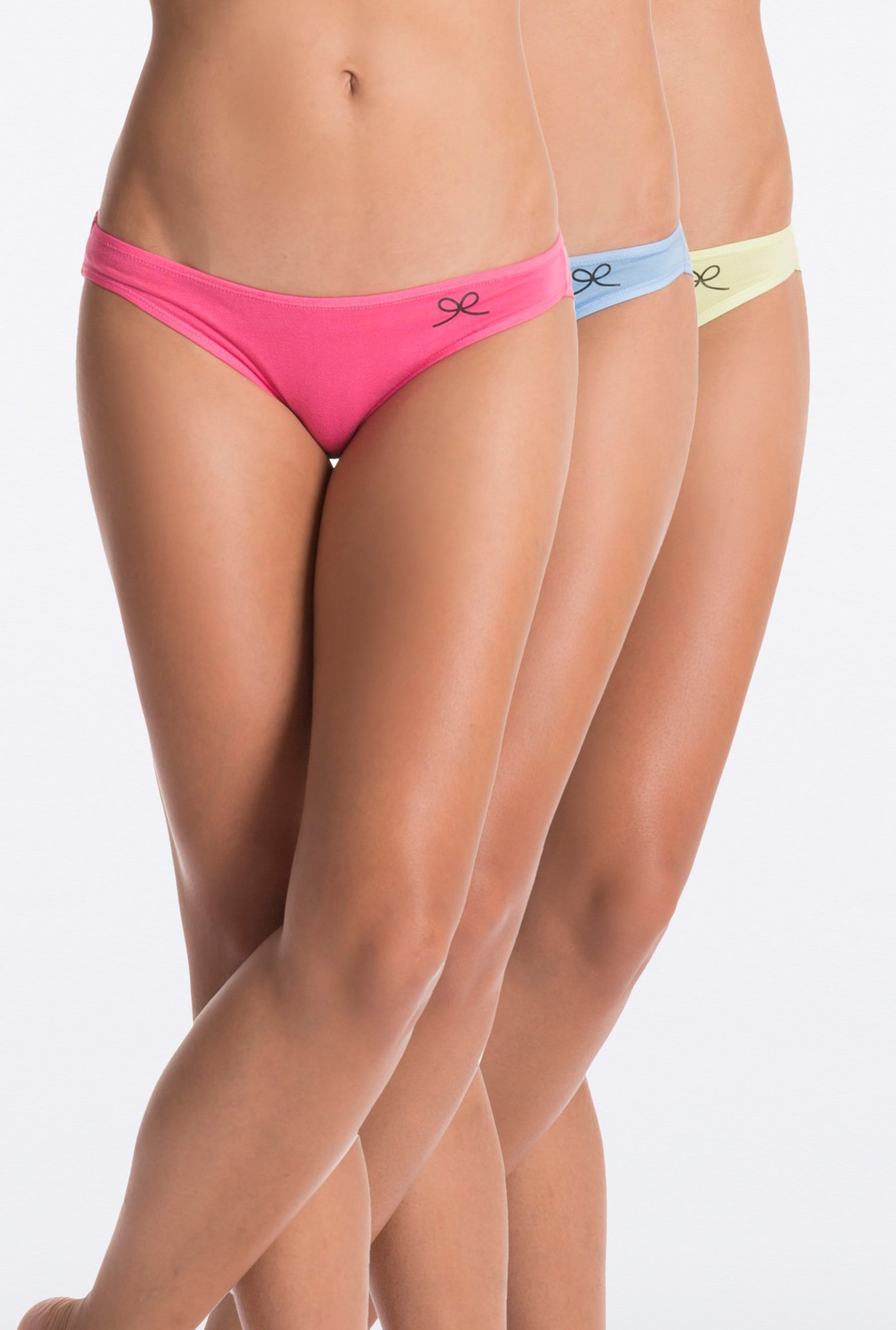 PrettySecrets Lime, Blue & Pink Bikini (Pack of 3)