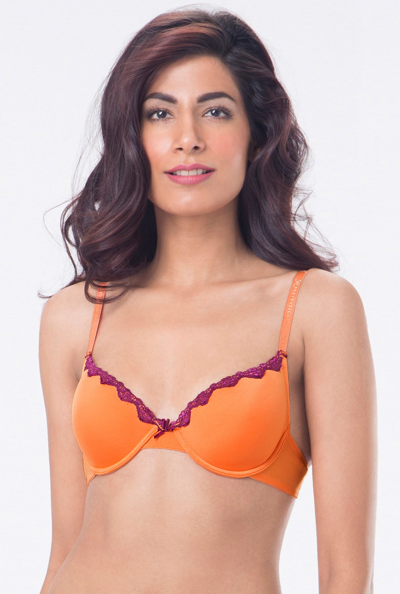 PrettySecrets Orange Padded Seamless Bra