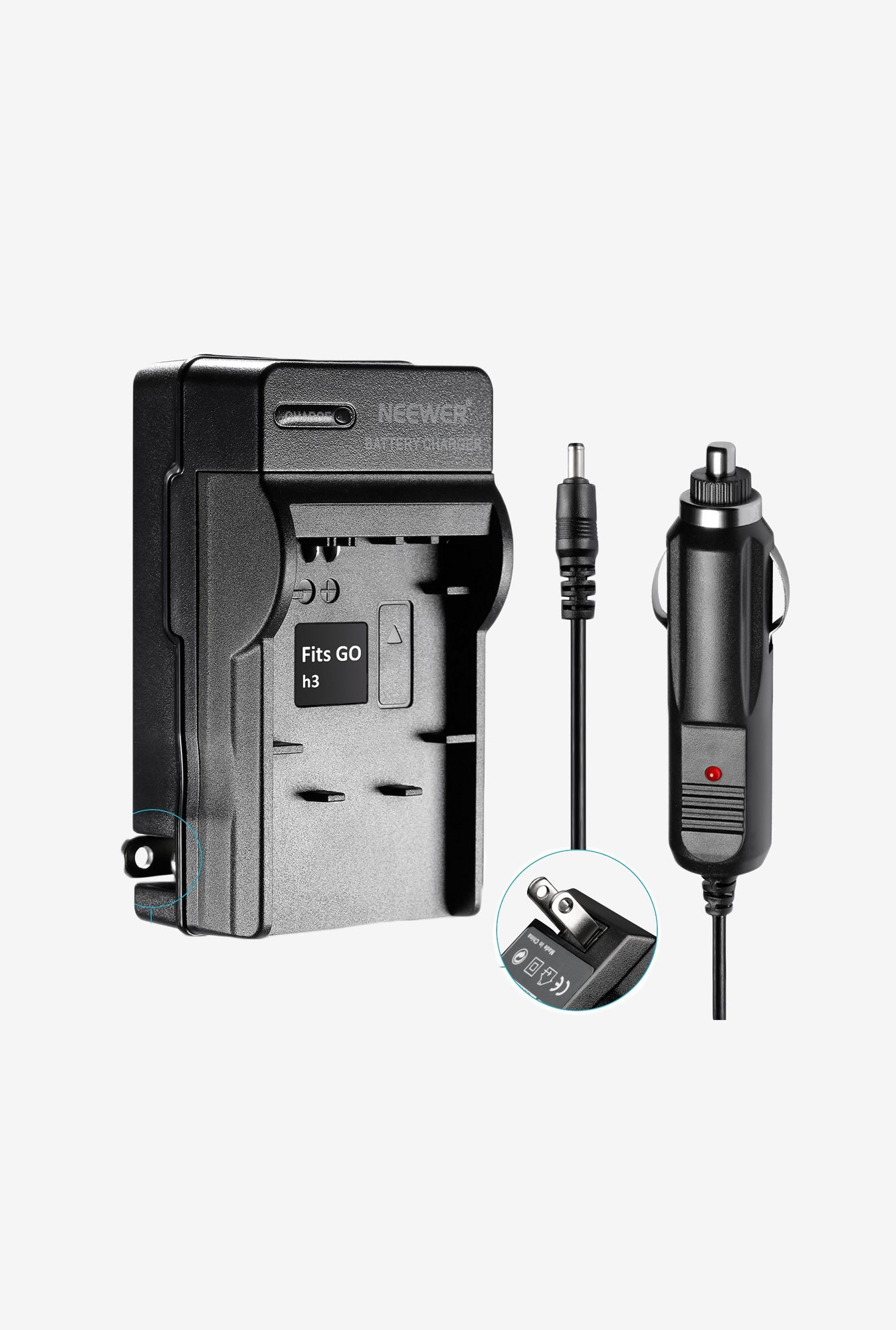 Neewer Dual Battery Charger And Car Adaptor Us Plug (Black)