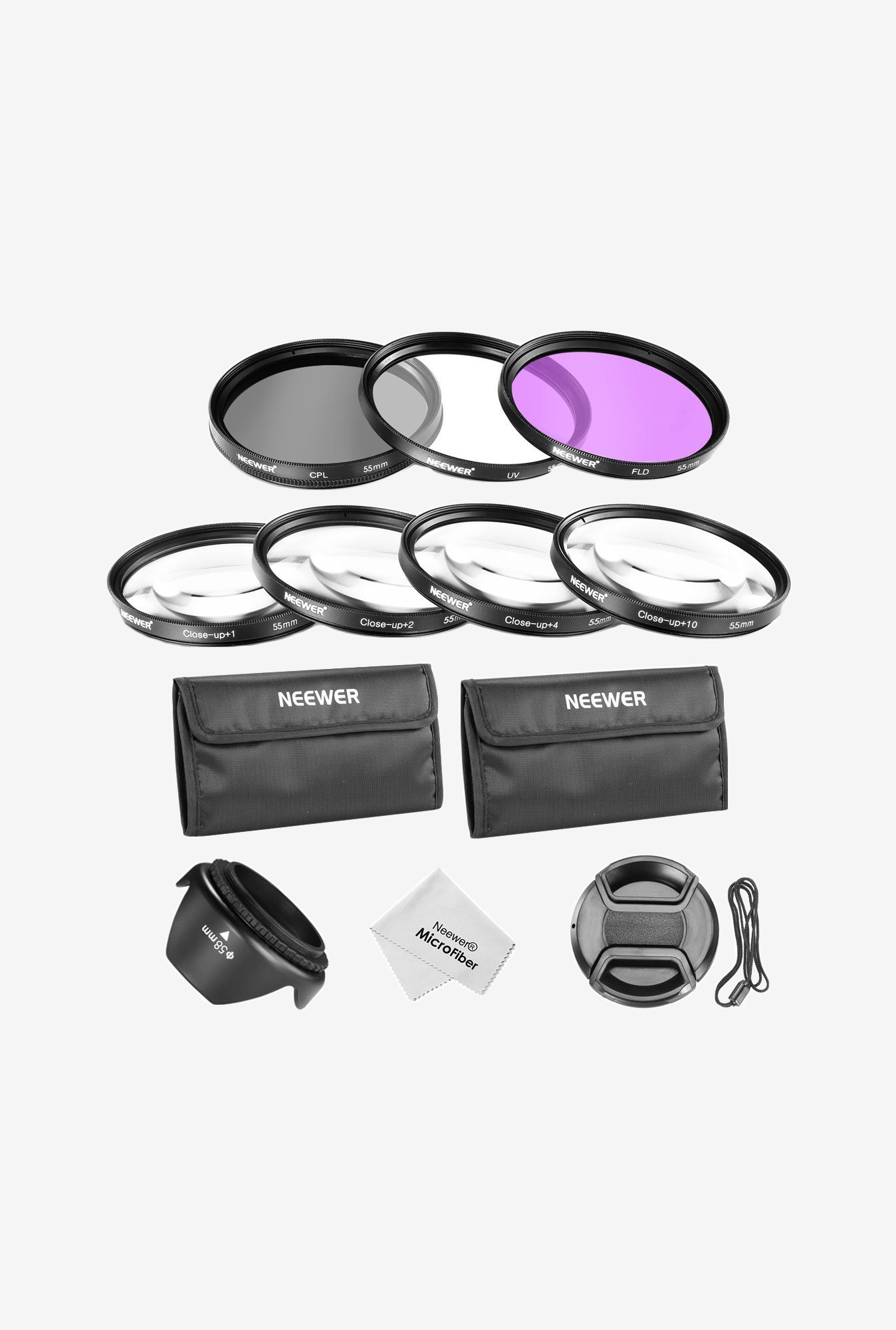 Neewer 55Mm Lens Filter and Close-Up Macro Accessory Kit