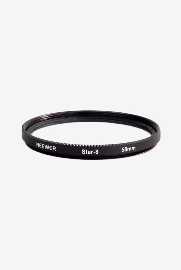 Neewer 58mm 8 Point Star Cross Twinkle Effect Filter (Black)