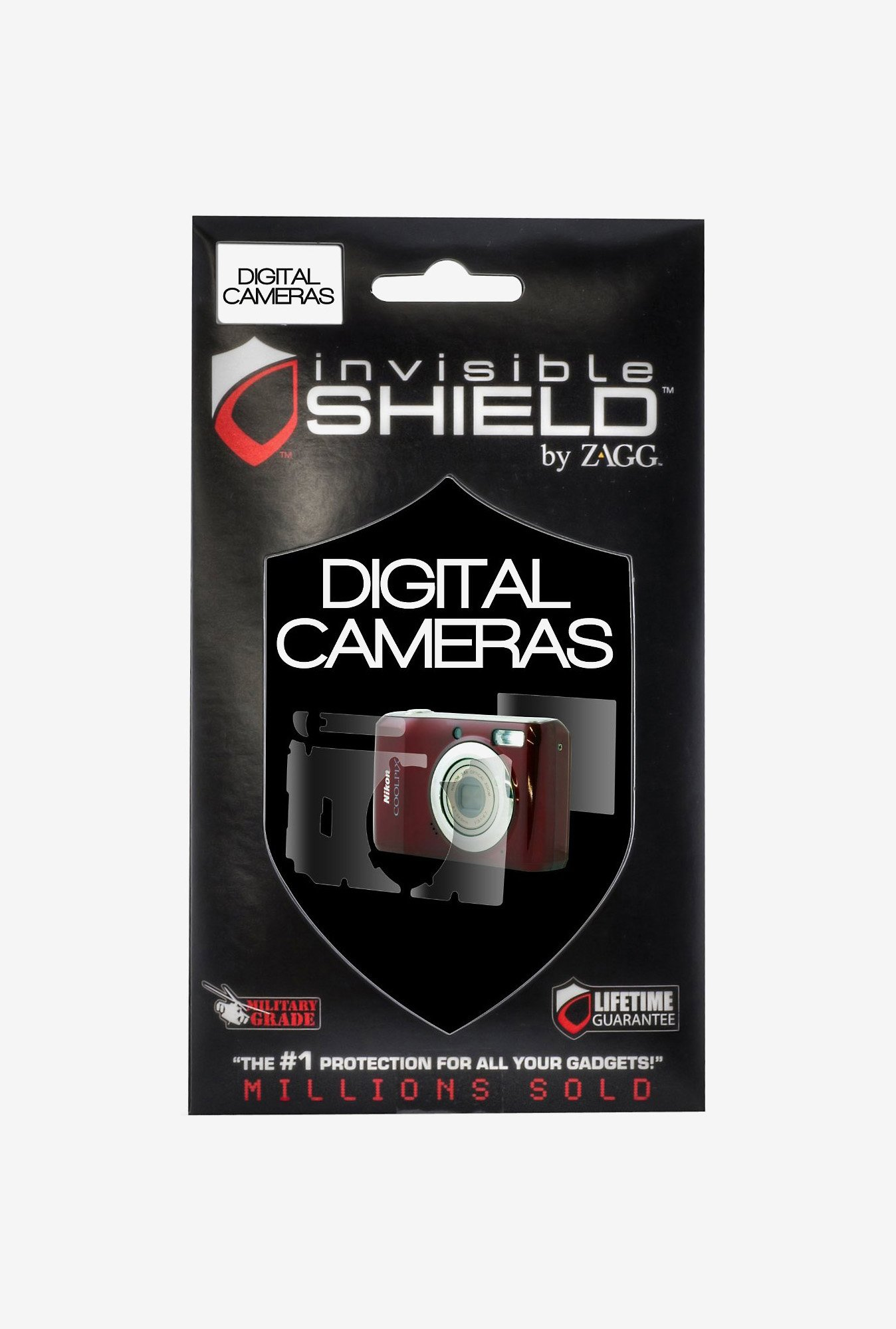 ZAGG InvisibleShield for Sony Cybershot Dsc-W170 (Clear)