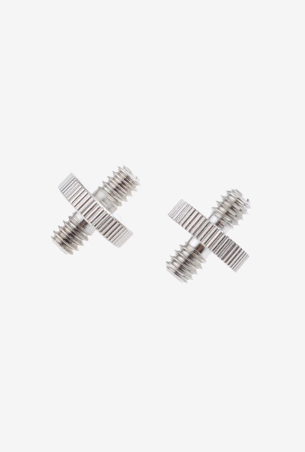 Neewer 2-pack Silver Threaded Metal Screw Adapter (Silver)