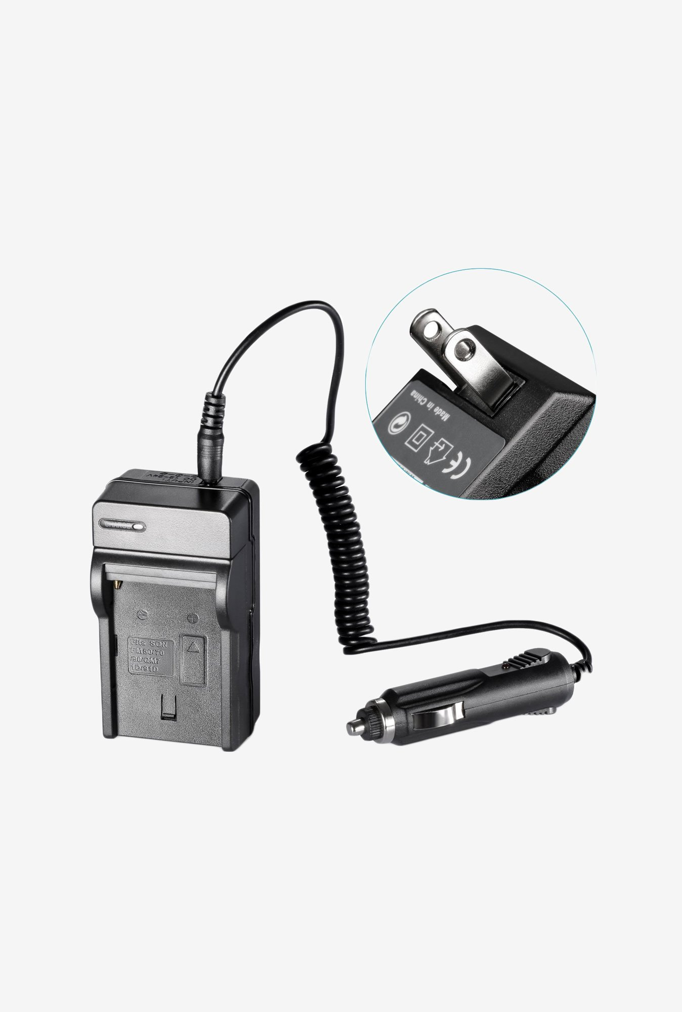 Neewer NP-FM500 AC Wall Charger In-Car Adapter (Black)