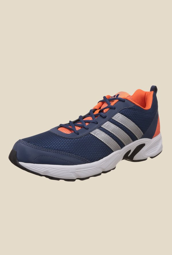Adidas Albis 1.0 Navy & Orange Running Shoes