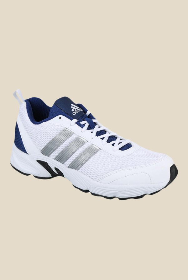 Adidas Albis 1.0 White & Navy Running Shoes