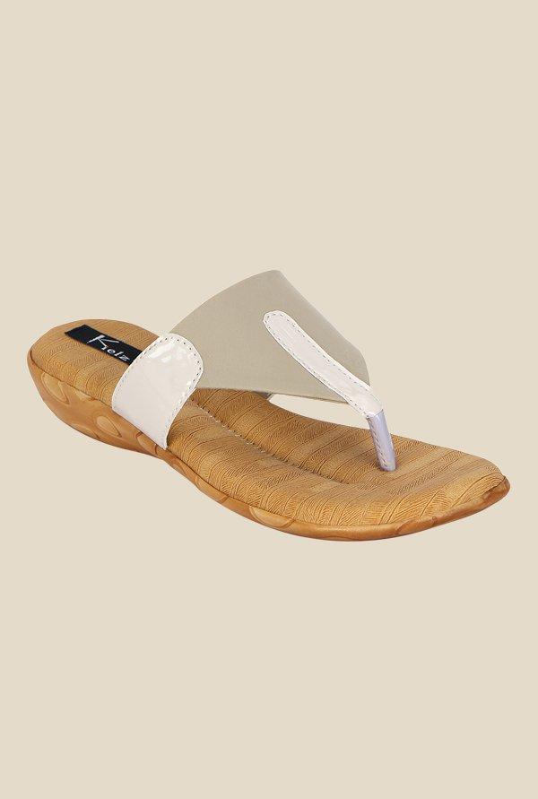 857e40a4ab0231 Buy Kielz Beige Thong Sandals For Women Online At Tata CLiQ
