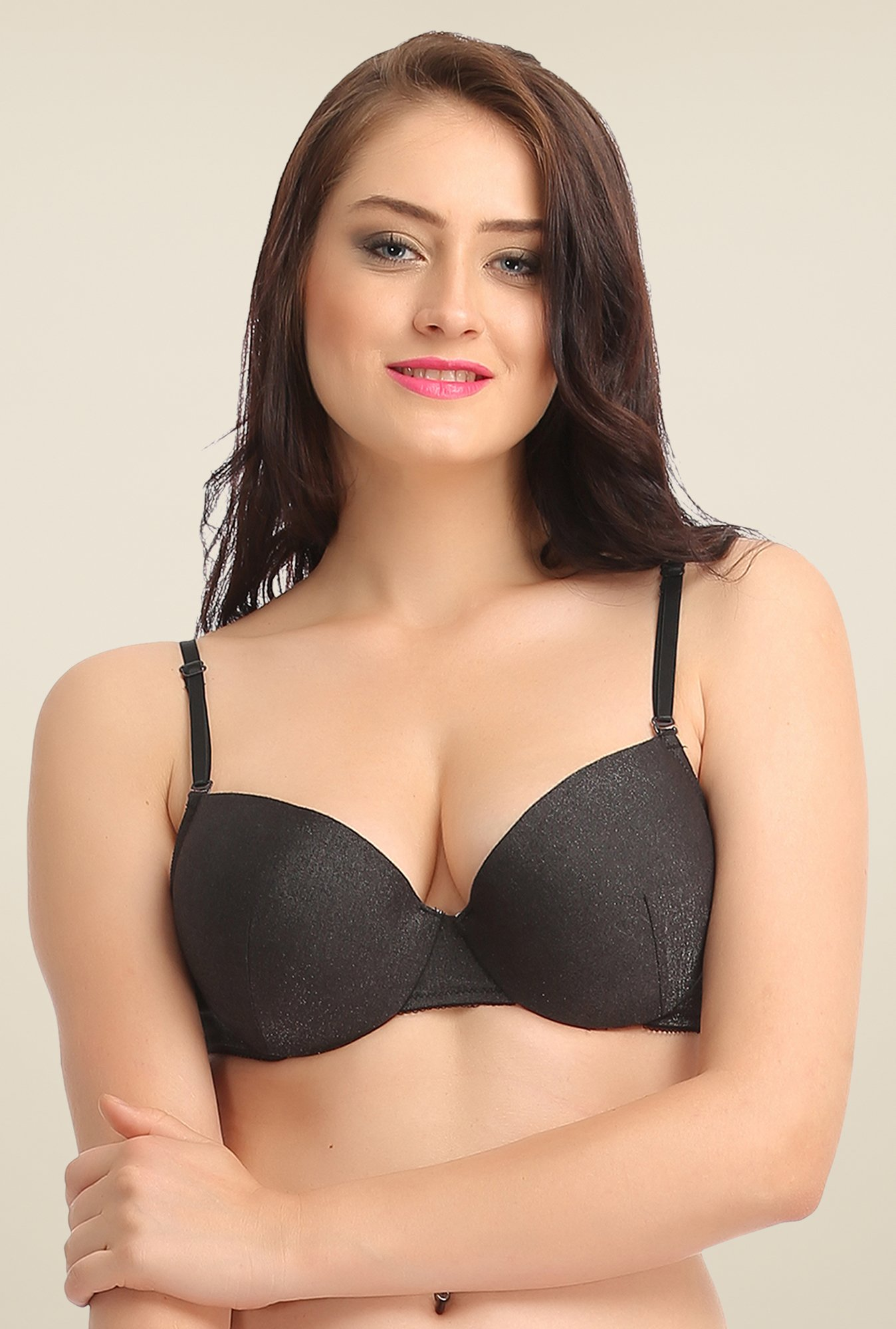 Clovia Black Non Wired Padded Bra