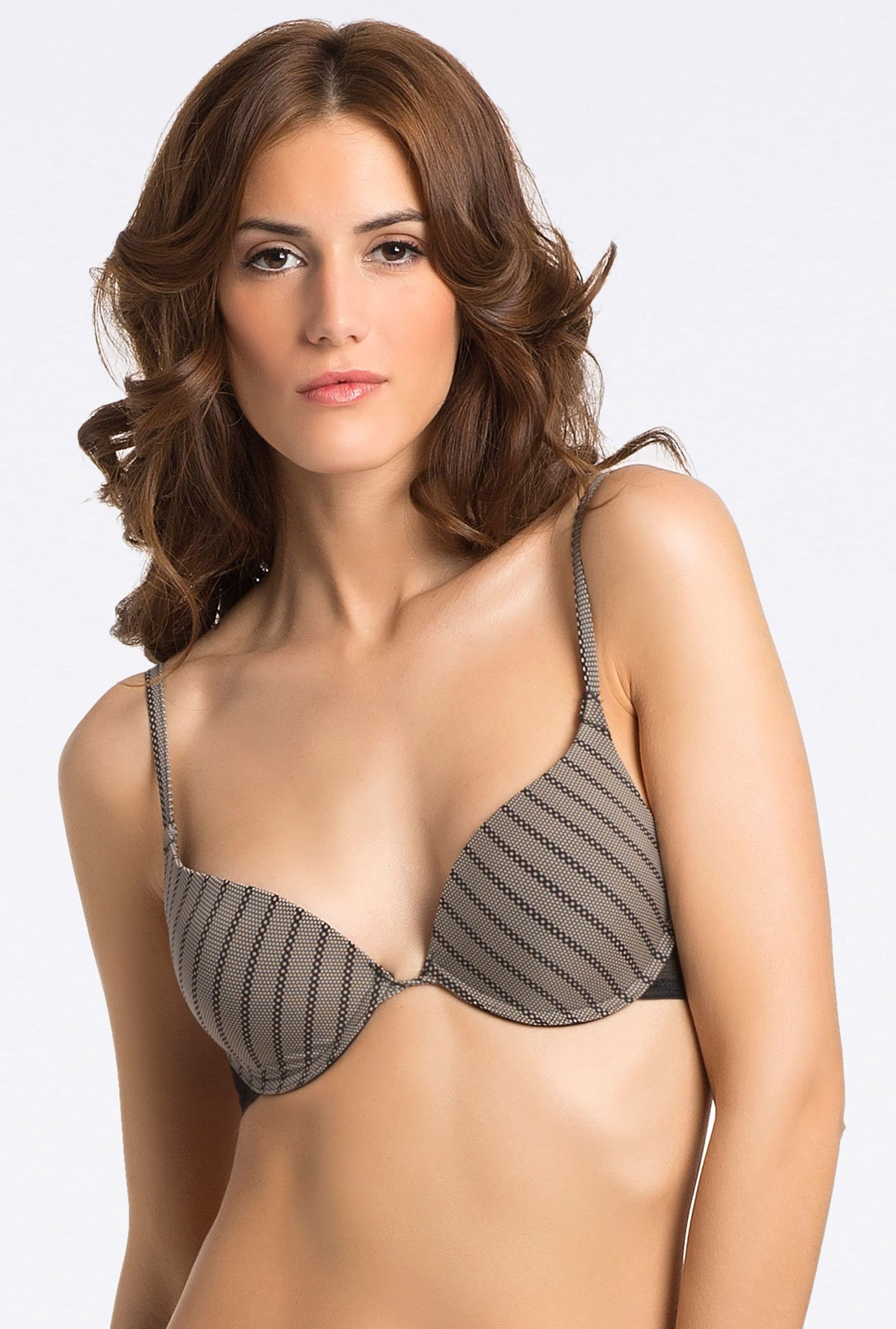 PrettySecrets Grey Chain Chantilly Bra