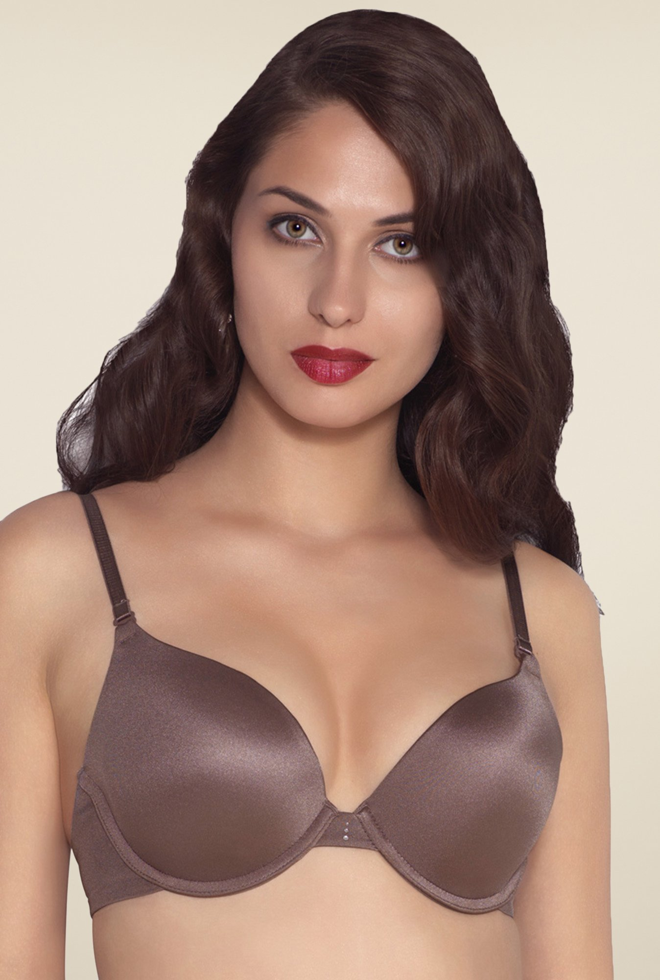 Amante Brown Padded Underwired Bra