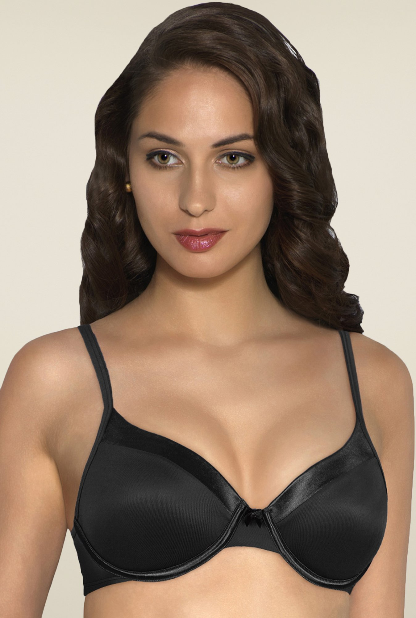 Amante Black Satin Edge Padded Bra