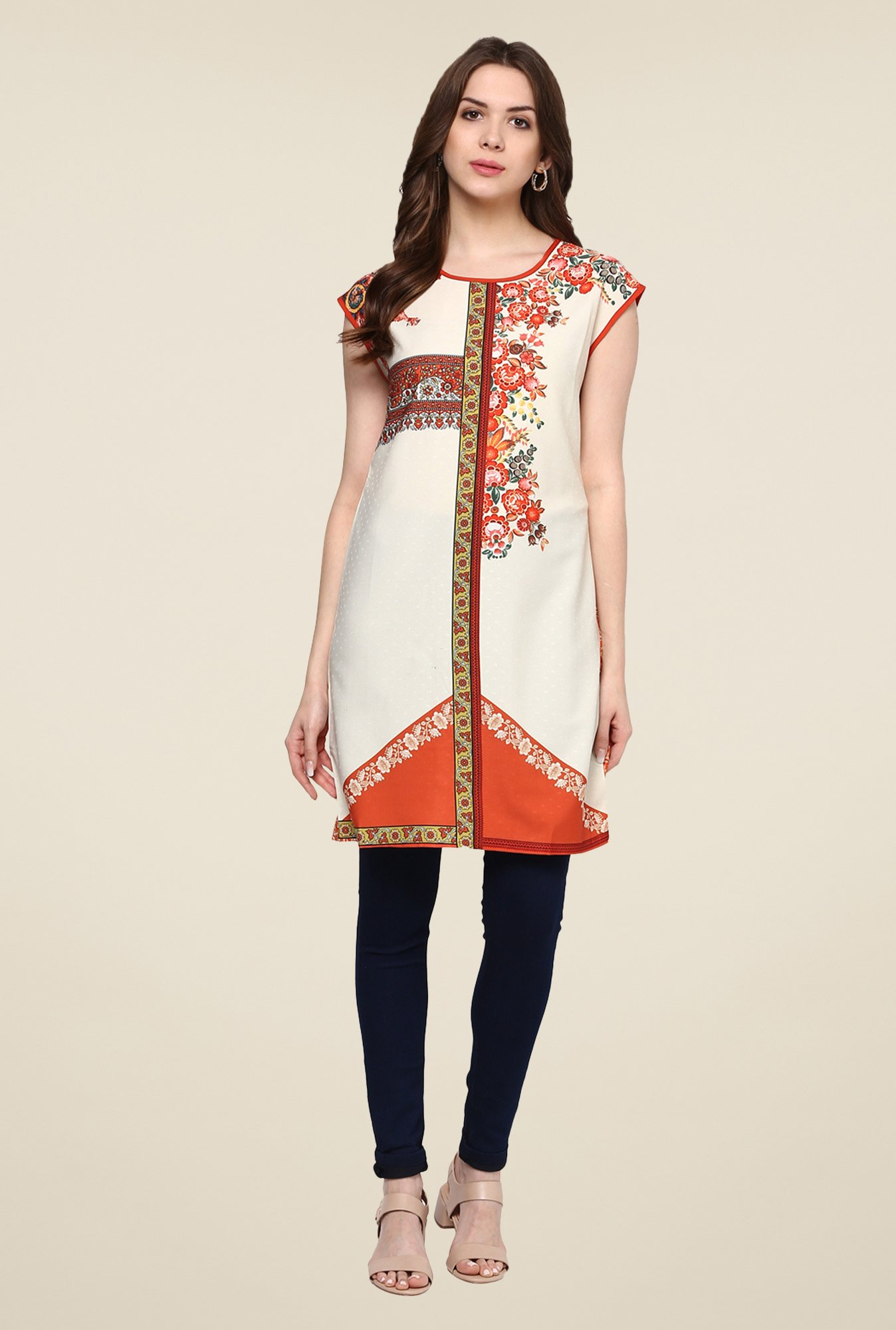 Fusion Beats Birch Printed Tunic