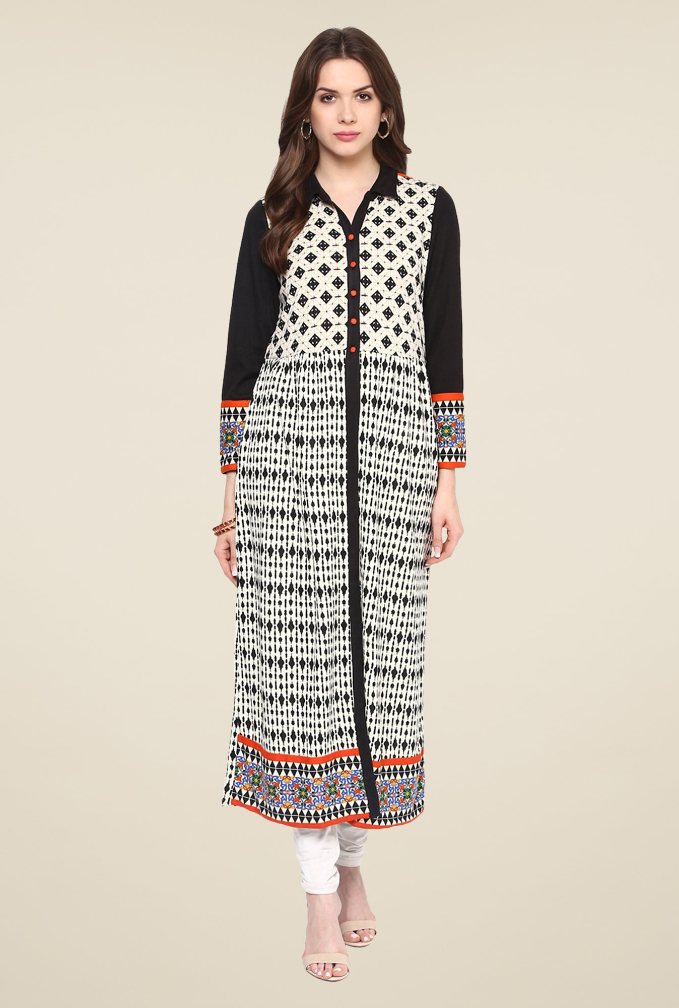 Fusion Beats Birch Printed Kurta