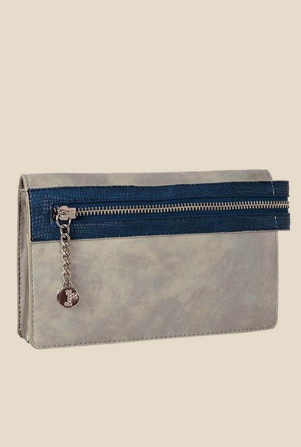 Baggit Mahlon Cheek Silver Synthetic Wallet
