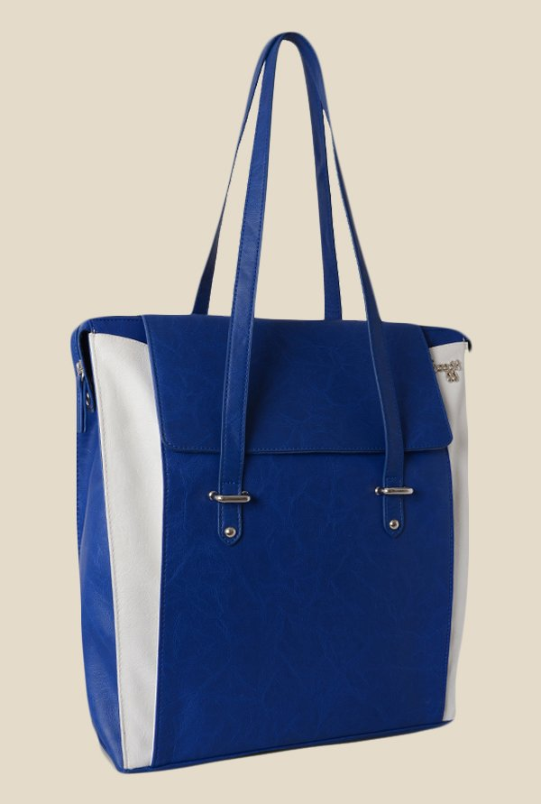 Baggit Vertigo Bindas Blue Synthetic Shoulder Bag