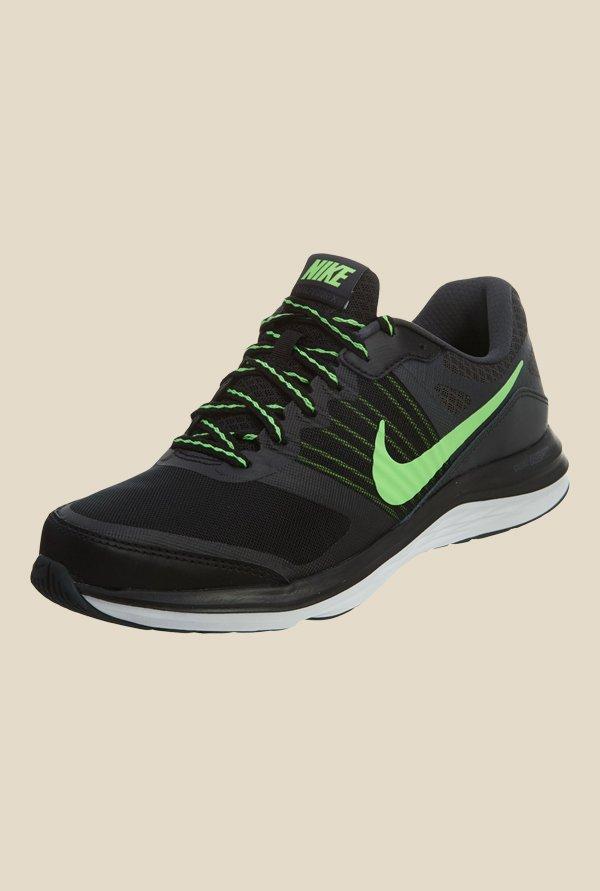 f79414609 Buy Nike Dual Fusion X MSL Black & Green Running Shoes for Men ...