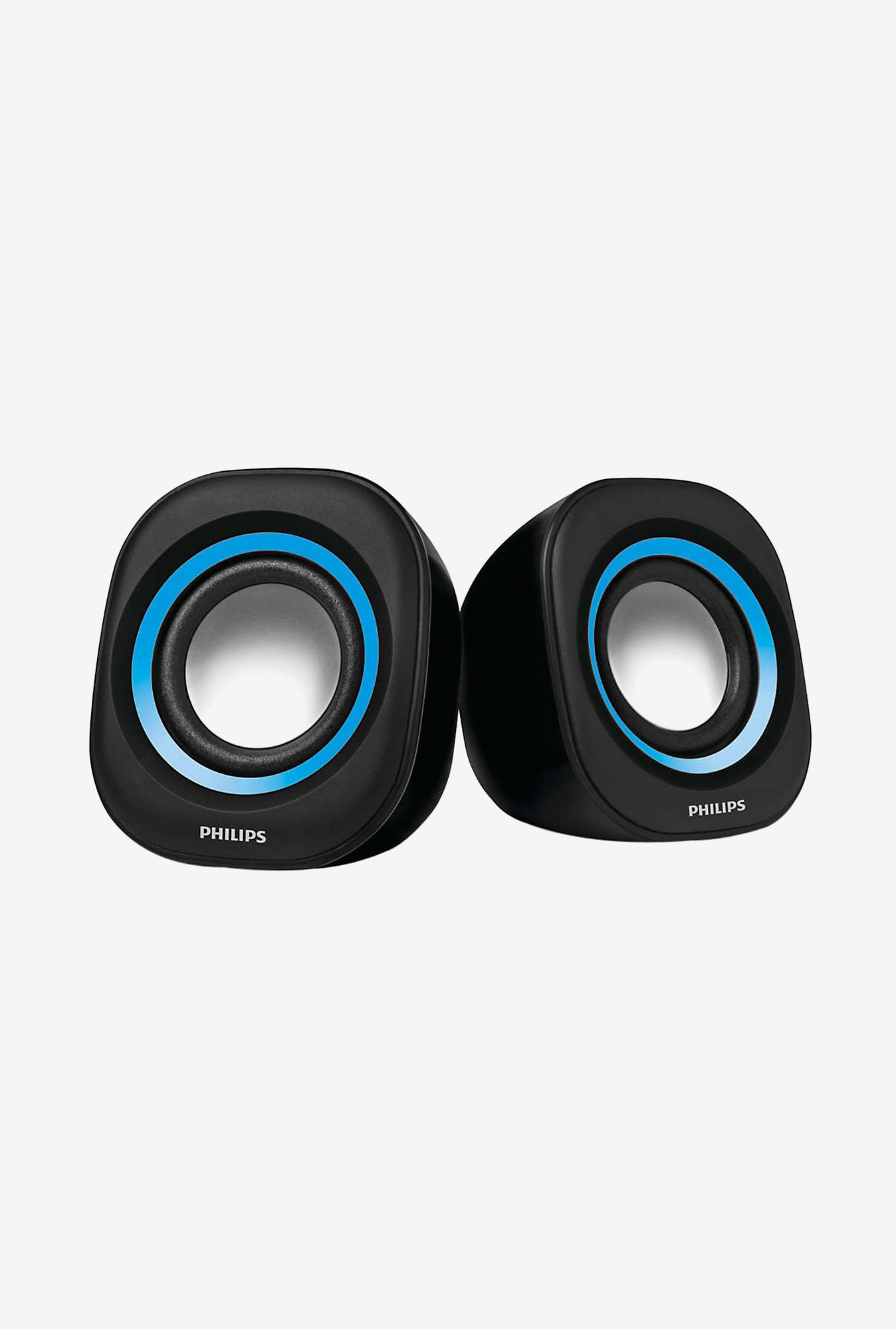 Philips SPA25 2.0 Portable Speaker with USB Plug (Blue)