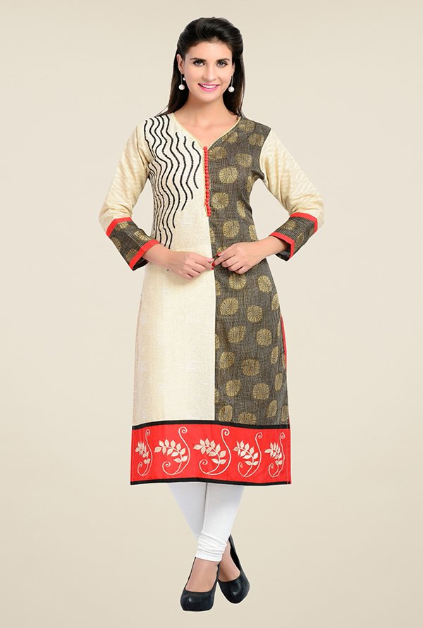 Zola Red Printed Kurta