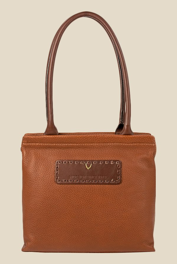 Hidesign Adhara 02 Tan Leather Shoulder Bag