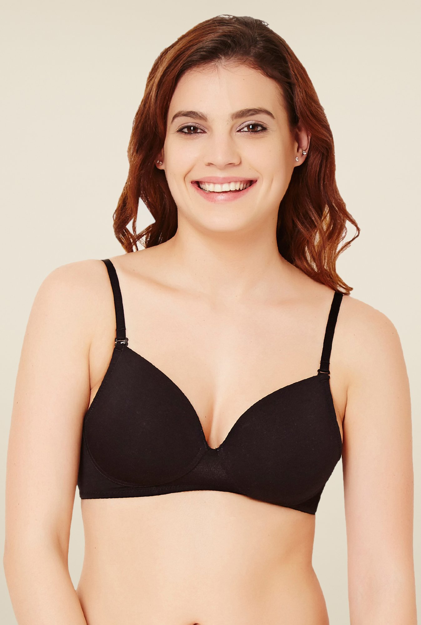 Rosaline by Zivame Black Solid Bra