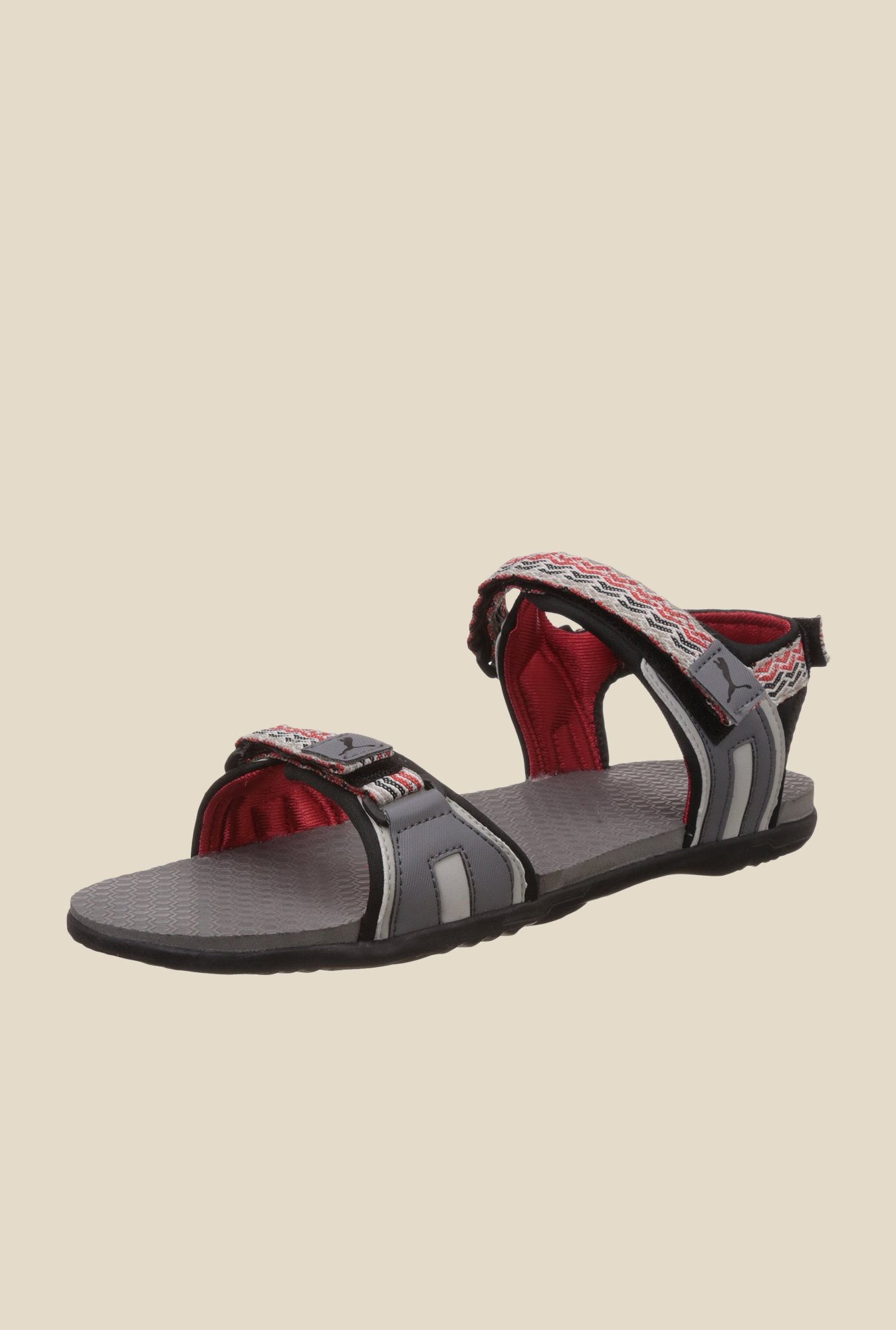 67695886f6c8 Buy Puma Zoom IDP Grey   Red Floater Sandals for Women at Best ...