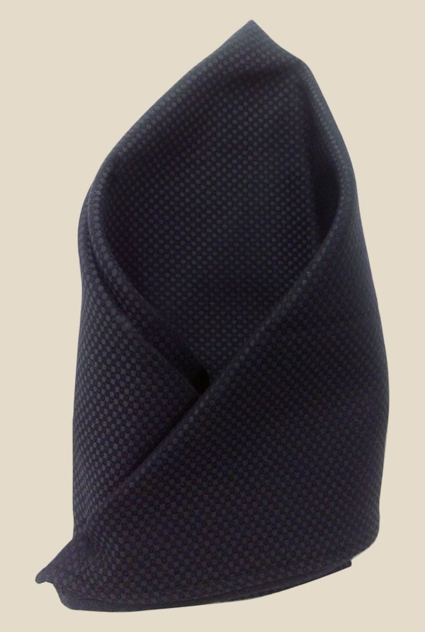 Blacksmith Pirate Black Egyptian Giza Cotton Pocket Square